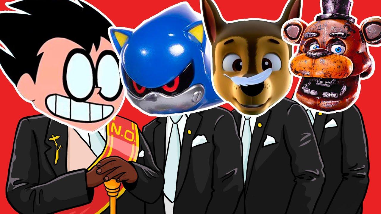 Teen Titans GO.EXE & Metal Sonic.EXE & Paw Patrol.EXE & FNAF.EXE - Meme Coffin Dance COVER
