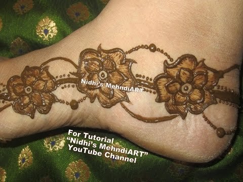 Easy Floral Henna Mehndi Designs For Feet Arabic Mehndi Designs For