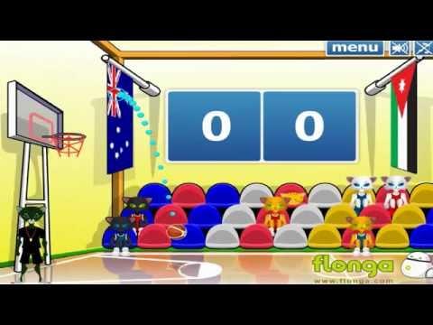 Чемпионат Мира по Баскетболу - Флеш Игра Баскетбол (Игра для детей на слабых КОМПЬЮТЕРАХ)