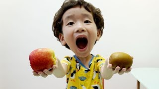 Rua and Voi Learns colors and names of fruits  Educational video compilation for Children