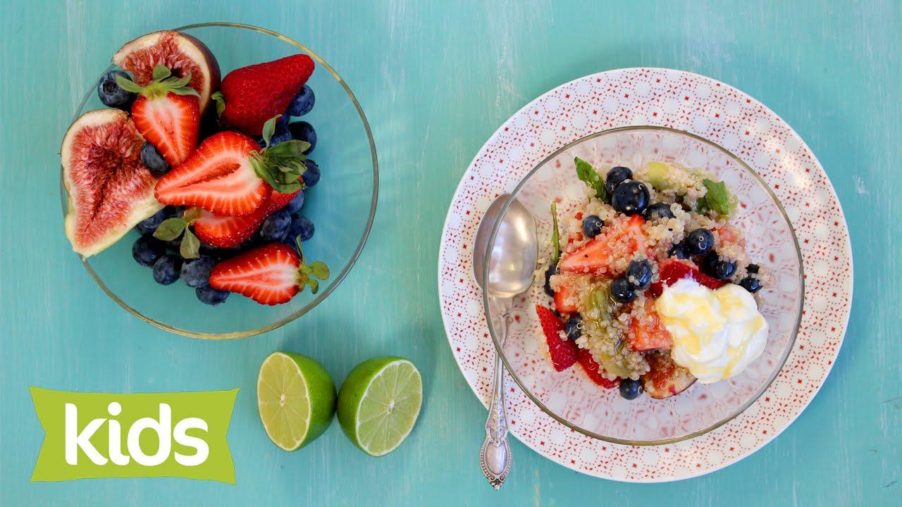 Quinoa Breakfast Fruit Salad - YouTube