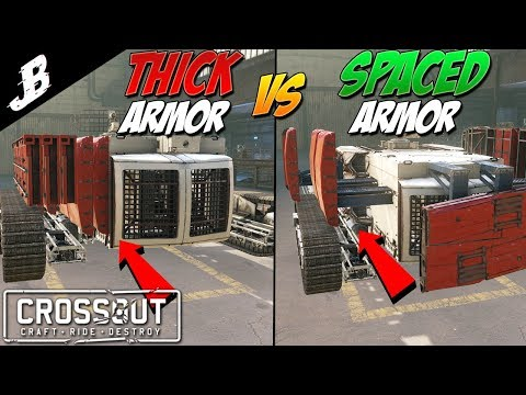 Crossout - Spaced armor vs Thick Armor. How it works in crossout.