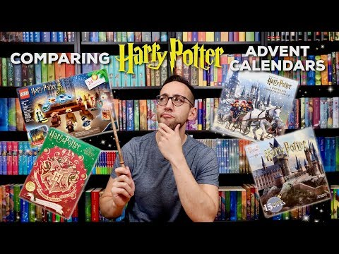 COMPARING FOUR 2019 HARRY POTTER ADVENT CALENDARS | Cinereplicas, Lego, Target, Pop-Up Book