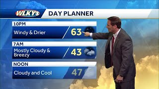 Windy and drier for your evening