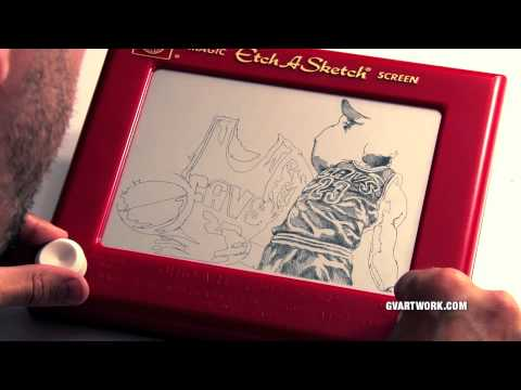 2015 NBA Finals Lebron James Etch A Sketch