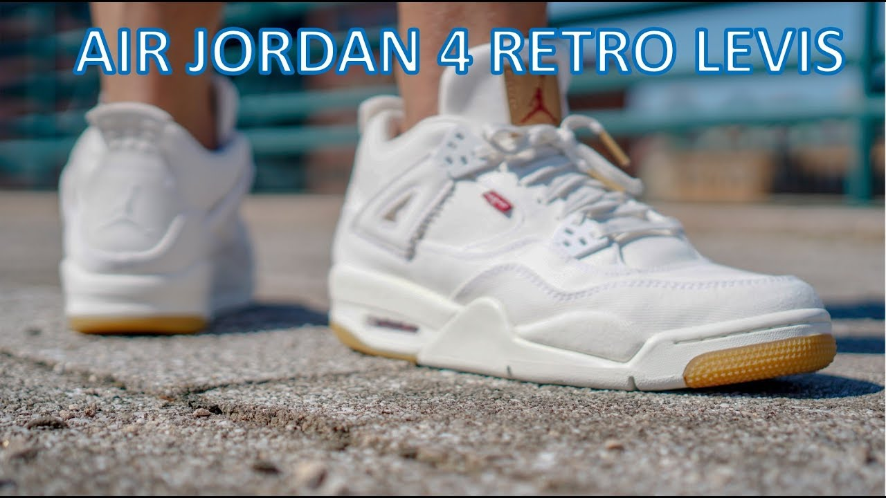 add04901c0f03a Review On Feet - Air Jordan 4 Levis - YouTube