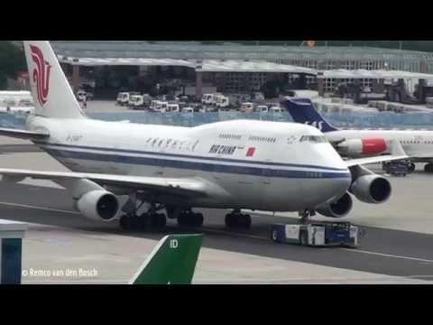 Boeing 747 compilation at Frankfurt Airport