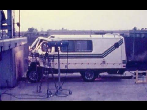 1979 Champion TransVan Motorhome | Frontal Crash Test by NHTSA | CrashNet1
