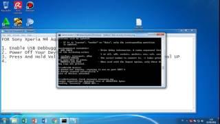 FULL TOTURIAL ROOT & FLASH CWM SONY XPERIA M4 AQUA Android M 6.0.1