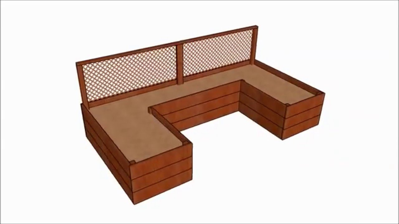 Raised garden bed plans - YouTube