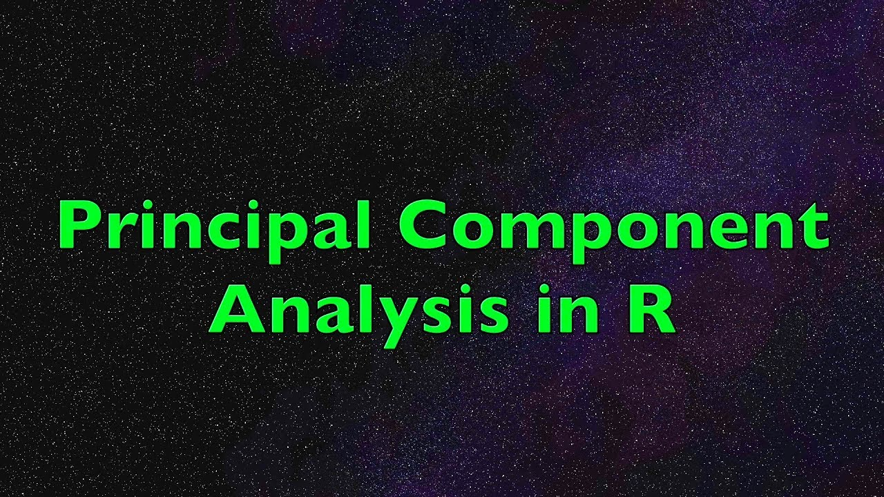 Principal Component Analysis in R: Example with Predictive Model & Biplot  Interpretation