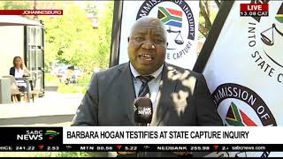 UPDATE: Barbara Hogan delivers her testimony at the State Capture Inquiry