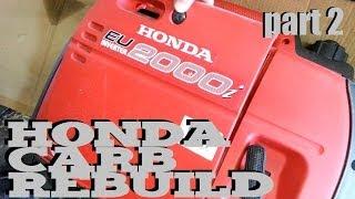honda generator eu2000i eu1000i carb rebuild part 2of2