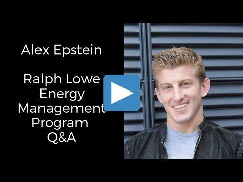 Alex Epstein - Ralph Lowe Energy Management Program Q&A