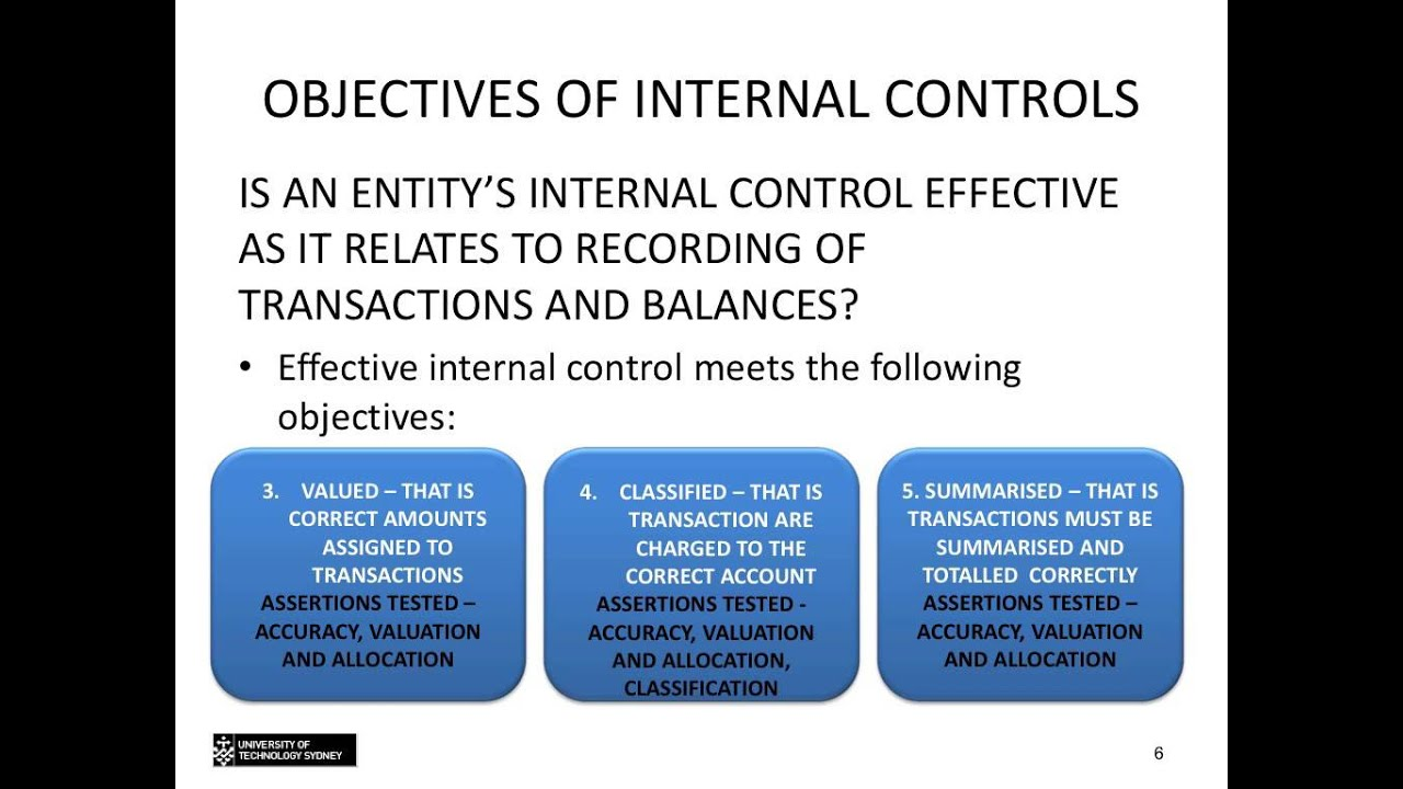 understanding internal control Internal control, as defined in accounting and auditing, is a process for assuring achievement of an organization's objectives in operational effectiveness and.