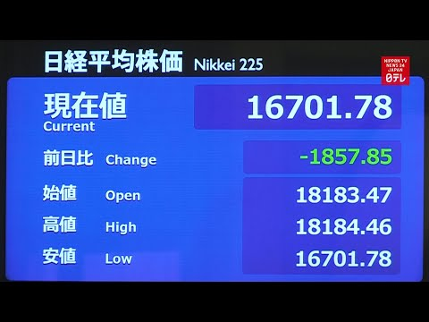 Tokyo stocks tumble 3 days in a row