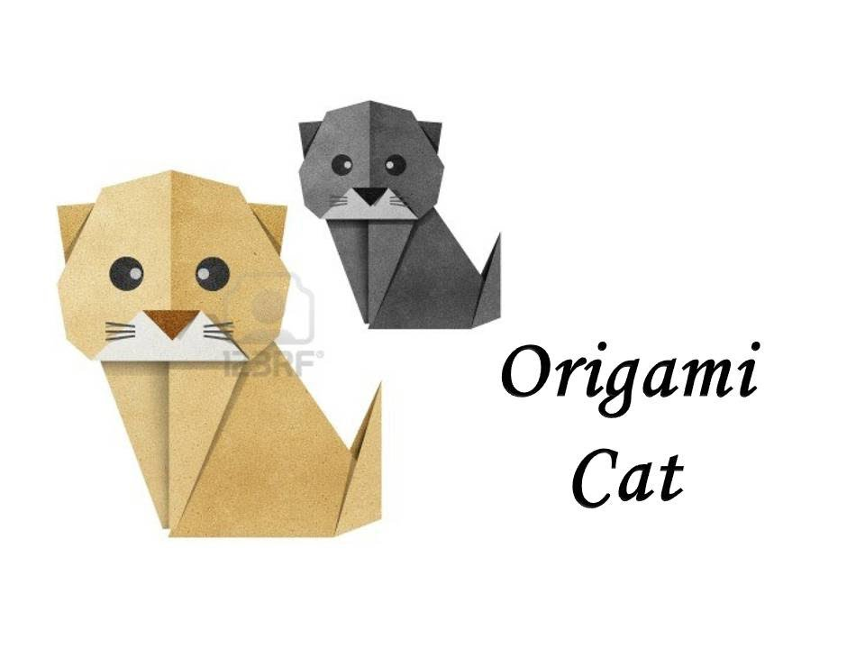 How To Make An Origami Cat Youtube