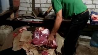 Купили телятину//Чужое хозяйство//Разделка мяса