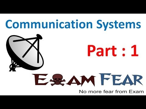Physics Communication Systems part 1 (Introduction) CBSE class 12