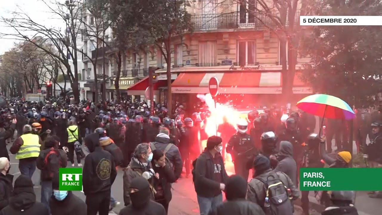 Paris Manifestation Contre Les Violences Policieres Et La Loi Securite Globale Degenere Youtube