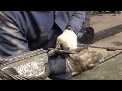 Простое и надежное плетение стального каната(троса).