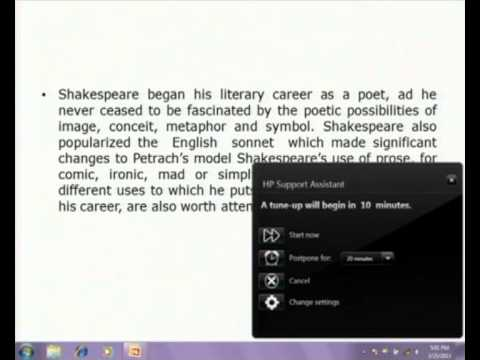Mod-03 Lec-14 The Age of Shakespeare