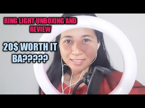 Ring Light unboxing and Review + no make up challenge