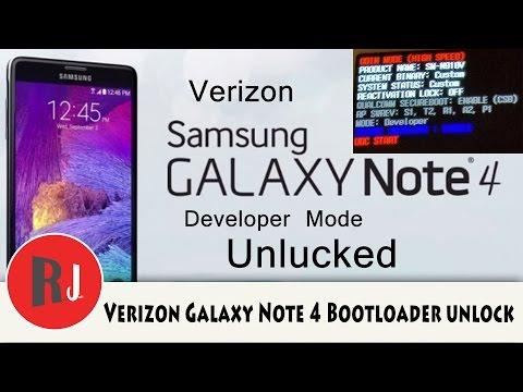 Verizon Samsung Galaxy Note 4 bootloader unlock and TWRP