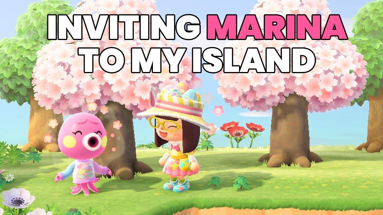 Inviting MARINA Octopus Villager to my Island - Animal ...