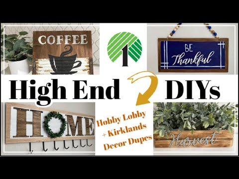High End Dollar Tree DIY Decor / FALL DIY Decor Dupes For Hobby Lobby