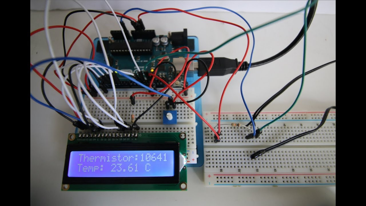 Circuit For Measuring Temperature Using A Thermistor And Arduino Tutorial 12 Temp Sensor Youtube