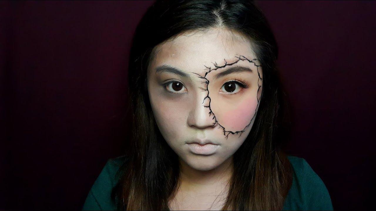 Creepy Half Dead Half Alive Halloween Makeup