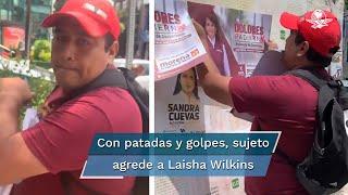 Dolores Padierna salió a aclarar que el sujeto que fue grabado agrediendo a la actriz no pertenece a su equipo de campaña y le ofreció su apoyo
