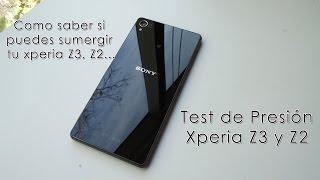 Test para saber si puedes sumergir tu Xperia Z3, Z2