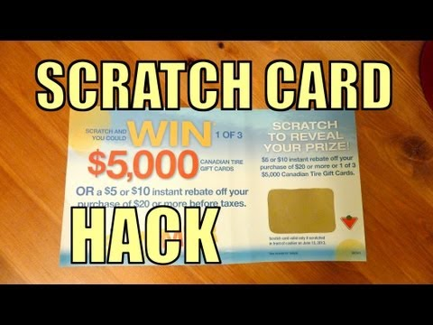 Scratch Card HACK Trick - How To Win $5000 Without Scratchin