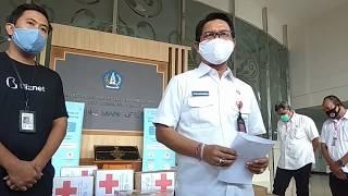 Penyerahan Bantuan dari Ayana Resort and Spa, dan Biznet