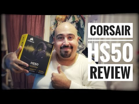 CORSAIR HS50 GAMING HEADSET UNBOXING & REVIEW | BEST HEADSET UNDER $50 (2017)