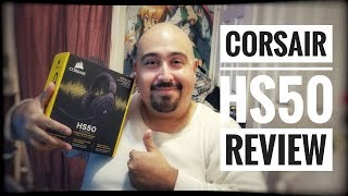 CORSAIR HS50 GAMING HEADSET UNBOXING & REVIEW   BEST HEADSET UNDER $50 (2017)