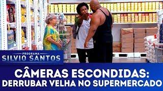Derrubar Velha no Supermercado | Câmeras Escondidas (18/03/18)
