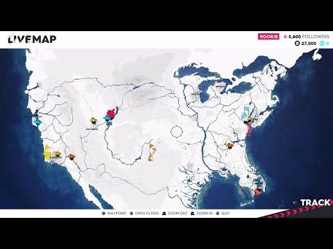 The Crew 2 World Map Size Scope Miami Washington Dc New