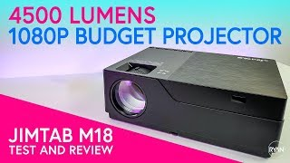 JIMTAB M18 1080p LED Projector REVIEW -  NATIVE 1080p - 4500 LUMENS - ANY GOOD?! (2019)