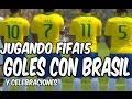 un rato jugando | fifa15 | goles | brasil