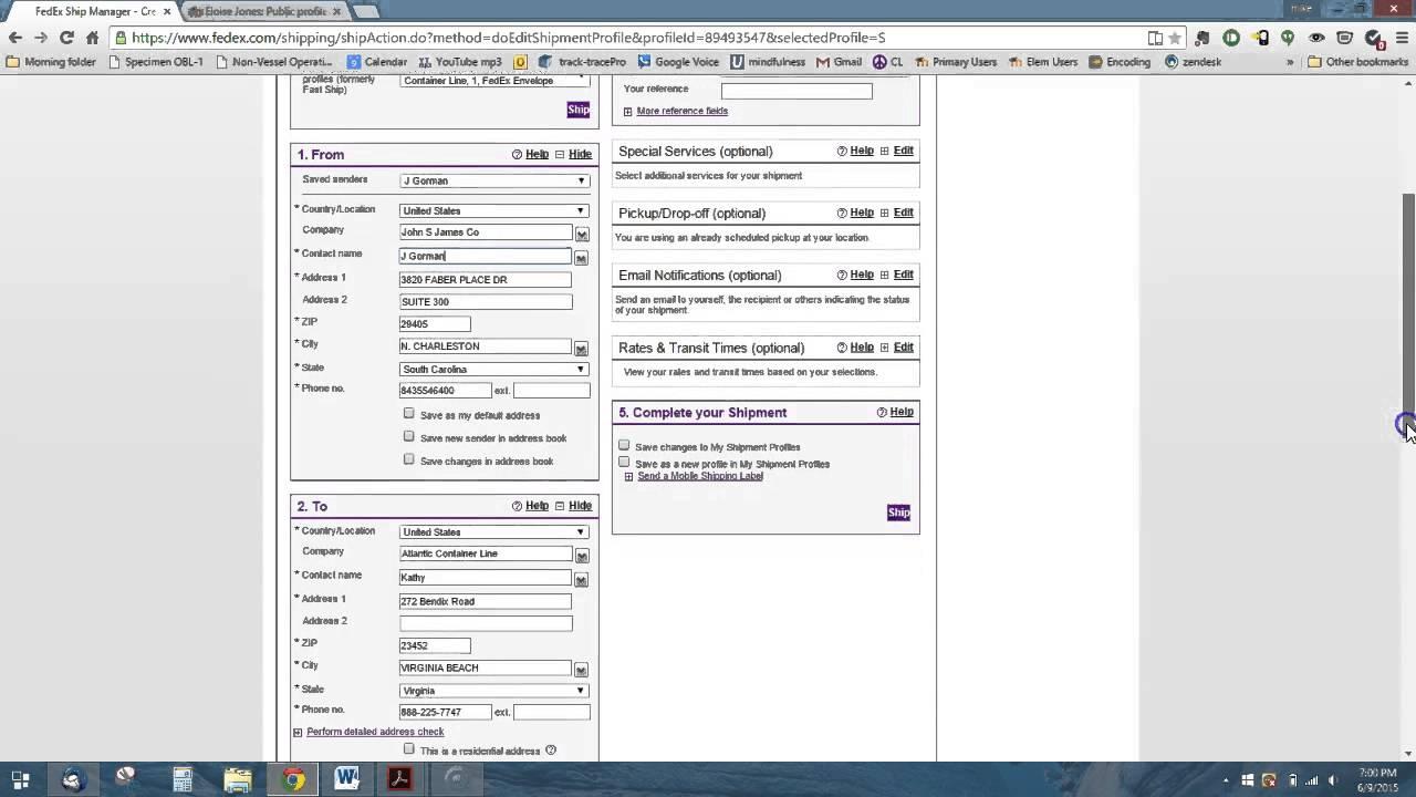 Fedex Pickup Fee >> Fedex Pickup Schedule Youtube