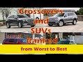 Three Row Mid Size Crossovers and SUVs Ranked from Worst to Best
