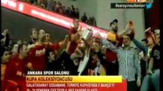 Galatasaray kupayı kaldırdı! video   Galatasaray  Fenerbahçe  Bayan Basketbol