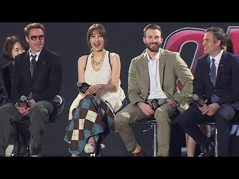 Avengers Age of Ultron Korea Fan Event - Claudia Kim, Robert Downey Jr, Chris Evans, Mark Ruffalo