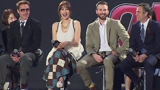 Download Video Avengers Age of Ultron Korea Fan Event - Claudia Kim, Robert Downey Jr, Chris Evans, Mark Ruffalo MP3 3GP MP4