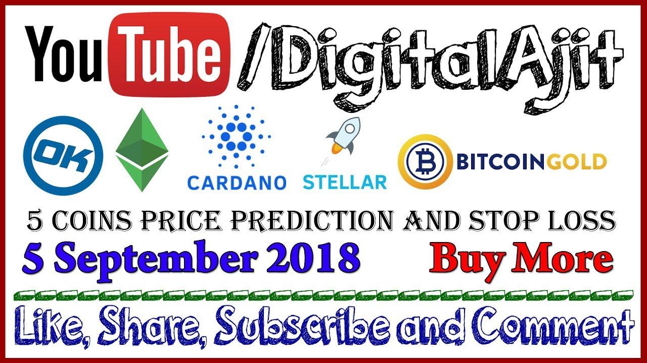 Ok Cash, Ethereum Classic, Cardano ADA, Stellar XLM or Bitcoin Gold BTG Price Prediction