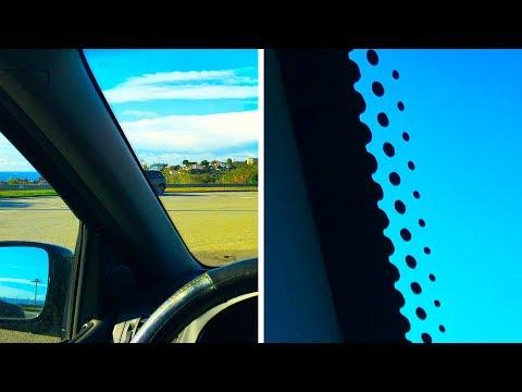 Warum Autoscheiben kleine schwarze Punkte haben