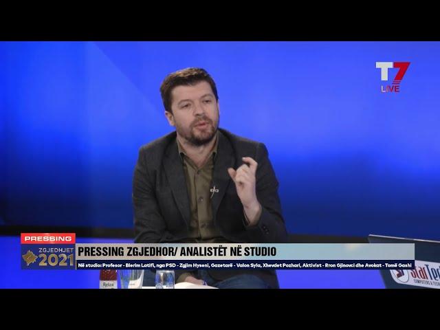 Nënkryetari i PSD-së, Zgjim Hyseni, në Pressing, T7 - 07 02 2021